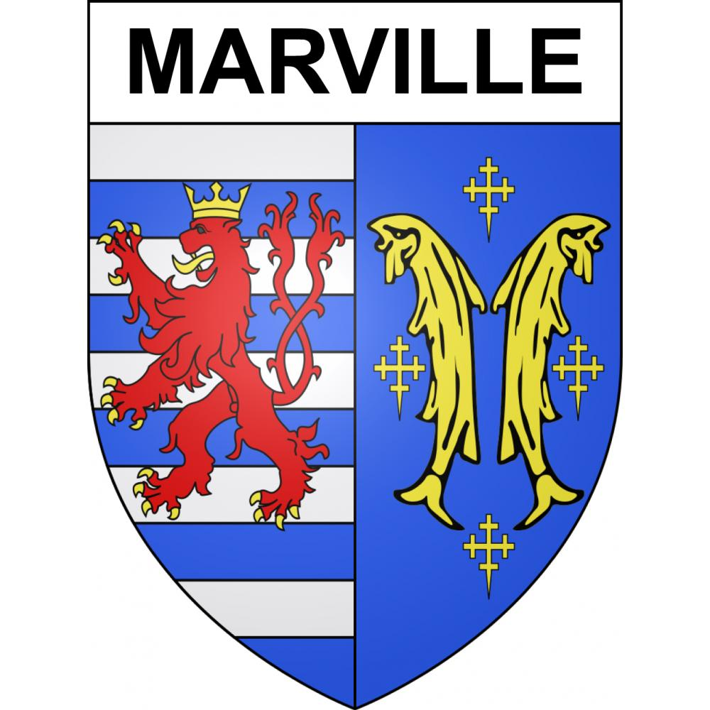 Stickers coat of arms Marville adhesive sticker