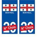 Montréal USA ville Autocollant plaque immatriculation auto sticker numéro au choix sticker city
