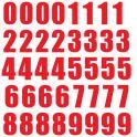 Set 40x Autocollant Sticker Porte Voiture Moto Numero Nombre Chiffre rouge logo 235