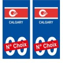 Calgary Canada ville Autocollant plaque immatriculation auto sticker numéro au choix sticker city