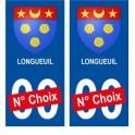 Longueuil Canada ville Autocollant plaque immatriculation auto sticker numéro au choix sticker city
