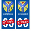 Sherbrooke Canada ville Autocollant plaque immatriculation auto sticker numéro au choix sticker city