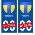 Toronto Canada ville Autocollant plaque immatriculation auto sticker numéro au choix sticker city