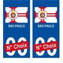 Sao Paulo Brésil ville Autocollant plaque immatriculation auto sticker numéro au choix sticker city