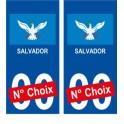 Salvador Brésil ville Autocollant plaque immatriculation auto sticker numéro au choix sticker city