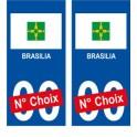 Brasilia Brésil ville Autocollant plaque immatriculation auto sticker numéro au choix sticker city