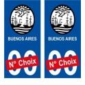 Buenos Aires Argentine ville Autocollant plaque immatriculation auto sticker numéro au choix sticker city