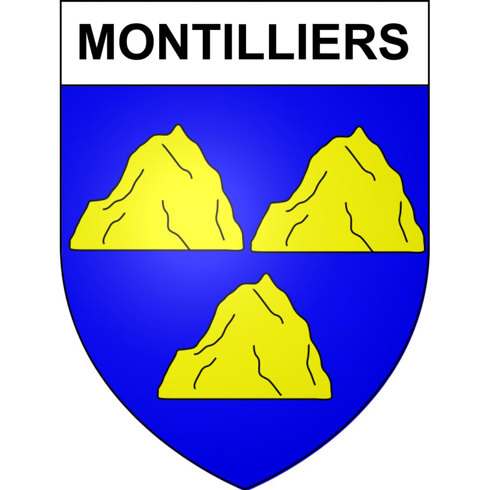 Stickers coat of arms Montilliers adhesive sticker