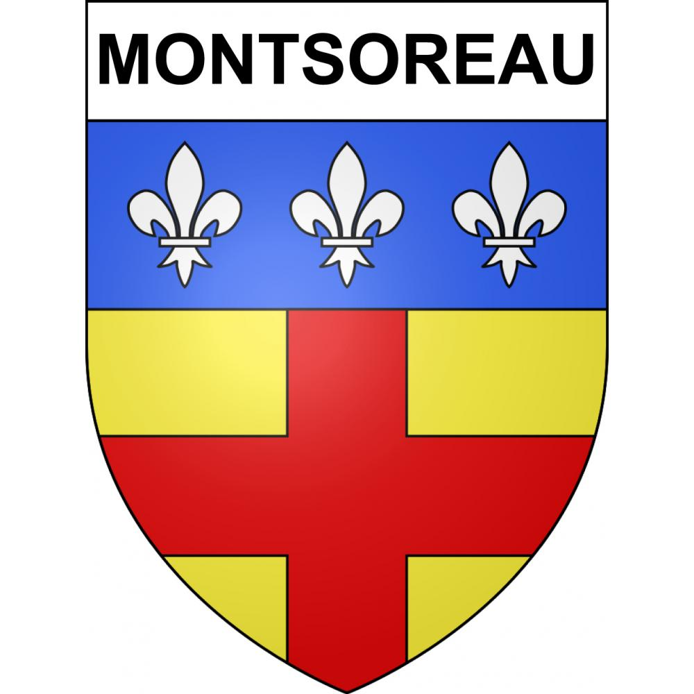 Stickers coat of arms Montsoreau adhesive sticker