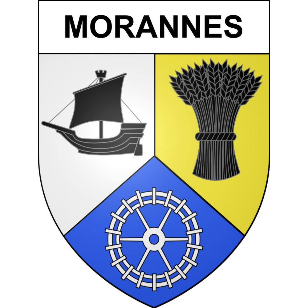Stickers coat of arms Morannes adhesive sticker