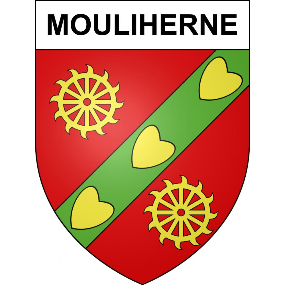 Stickers coat of arms Mouliherne adhesive sticker