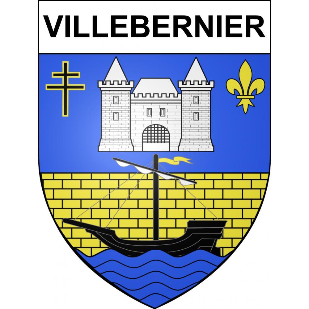 Stickers coat of arms Villebernier adhesive sticker