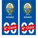 Rosario Argentine ville Autocollant plaque immatriculation auto sticker numéro au choix sticker city