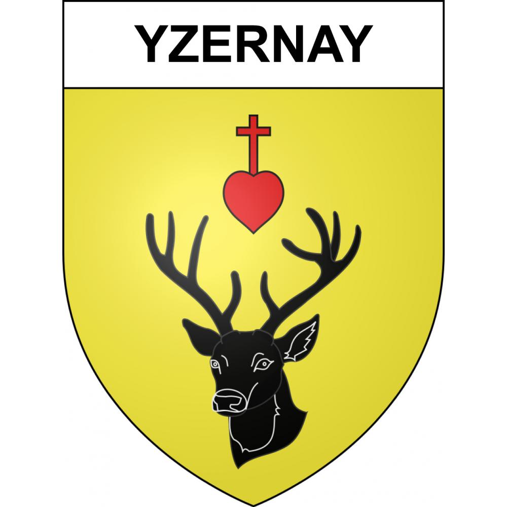 Stickers coat of arms Yzernay adhesive sticker