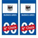 Buenos Aires ville sticker numéro au choix autocollant blason Argentine city