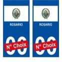Rosario ville sticker numéro au choix autocollant drapeau Argentine city