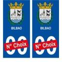 Bilbao ville sticker numéro au choix autocollant blason Espagne city