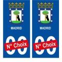 Barcelone ville sticker numéro au choix autocollant blason Espagne city