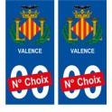 Valence ville sticker numéro au choix autocollant blason Espagne city