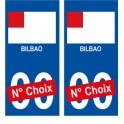 Bilbao ville sticker numéro au choix autocollant drapeau Espagne city