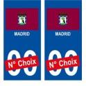 Madrid ville sticker numéro au choix autocollant drapeau Espagne city