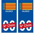 Valence ville sticker numéro au choix autocollant drapeau Espagne city