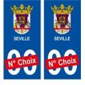 Séville ville sticker numéro au choix autocollant blason Espagne city