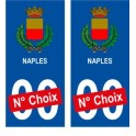 Naples ville sticker numéro au choix autocollant blason Italie city
