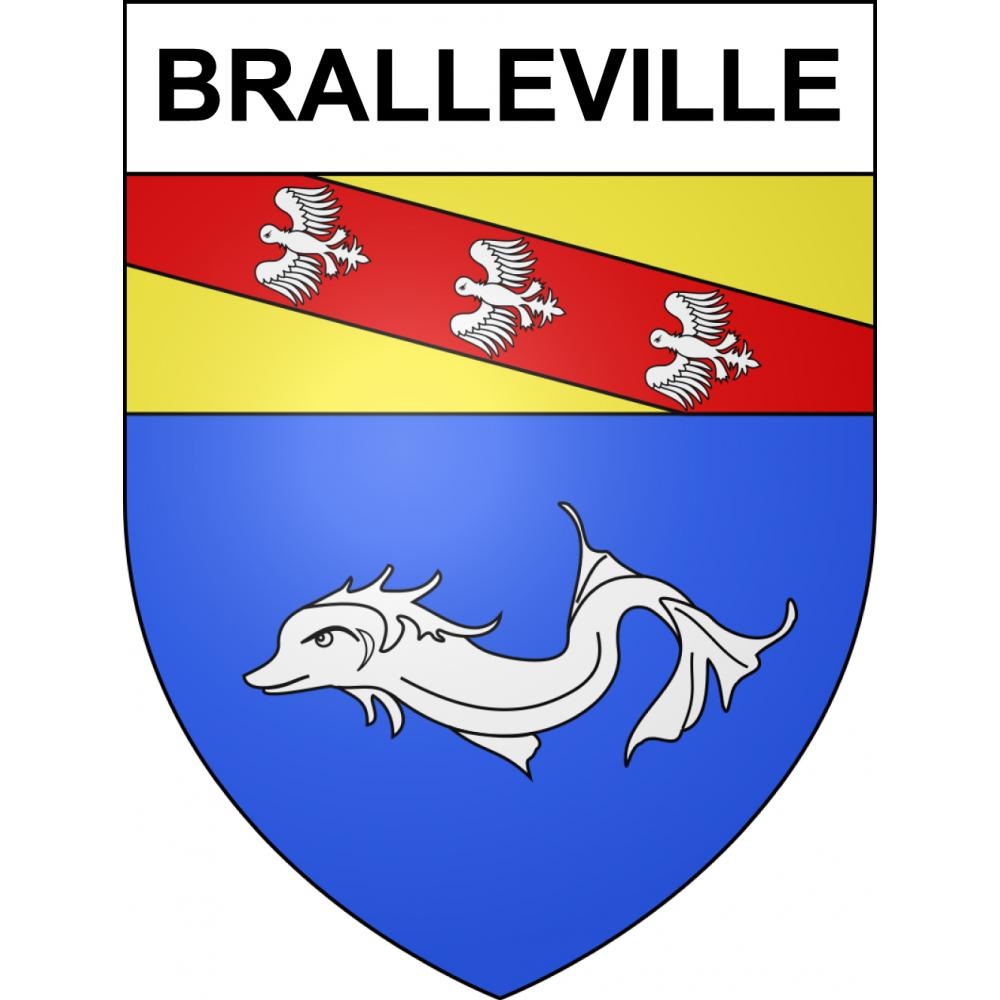 Stickers coat of arms Bralleville adhesive sticker