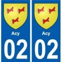 02 Cya city sticker, plate sticker