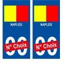 Naples Napoli Drapeau ville sticker numéro au choix autocollant blason Italie city