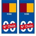 Rome ville sticker numéro au choix autocollant blason Italie city