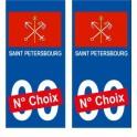 St Petersburg Saint-Pétersbourg ville sticker numéro au choix autocollant blason Russie Russiacity
