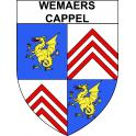 Stickers coat of arms Wemaers-Cappel adhesive sticker