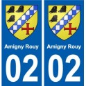 02 Amigny-Rouy city sticker, plate sticker