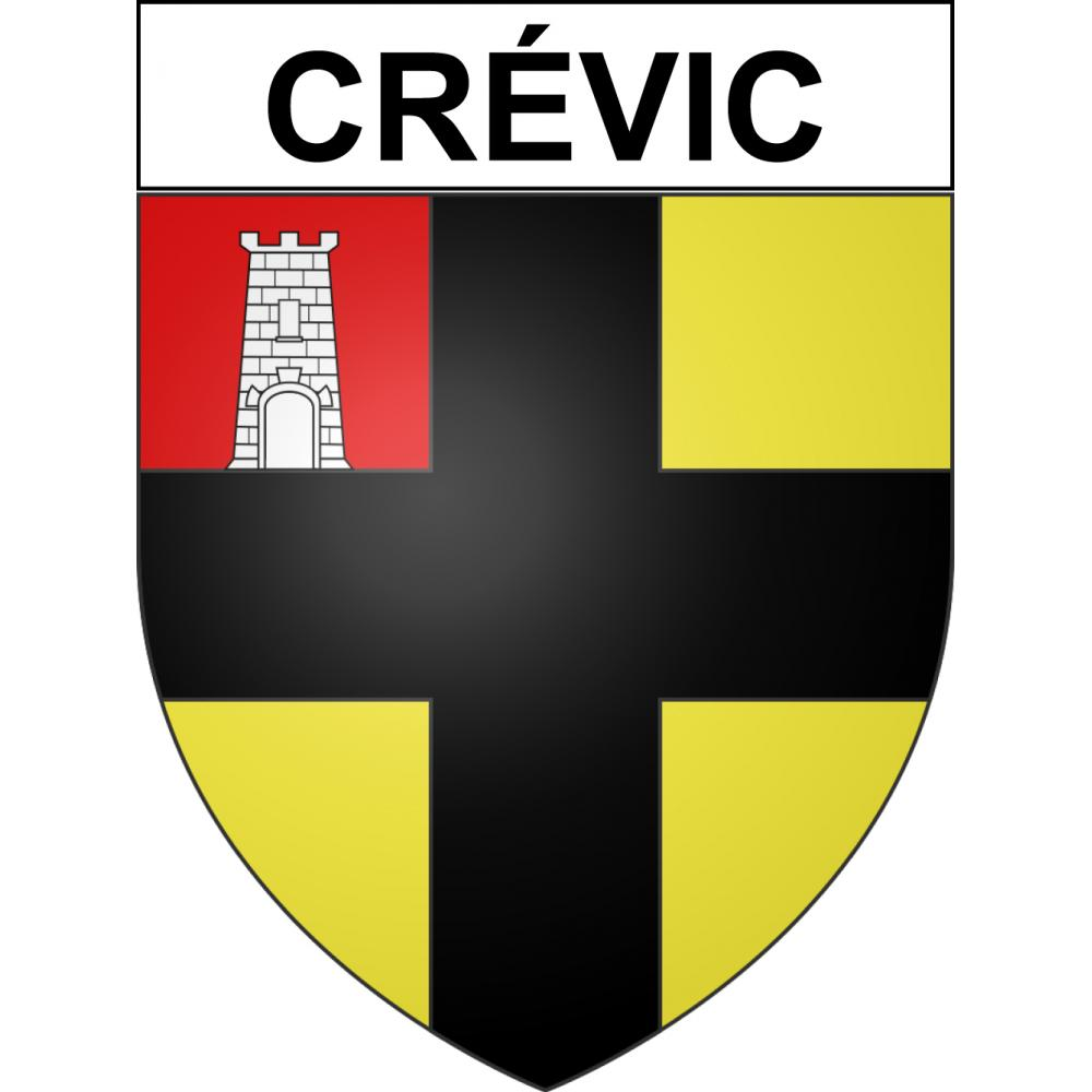 Stickers coat of arms Crévic adhesive sticker