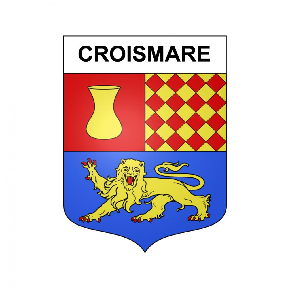 Stickers coat of arms Croismare adhesive sticker