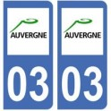 03 Allier autocollant plaque