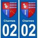 02 Charms city sticker, plate sticker