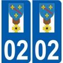 02 Condé-en-Brie logo, city sticker, plate sticker