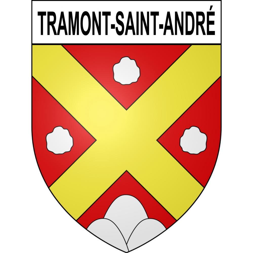 Stickers coat of arms Tramont-Saint-André adhesive sticker