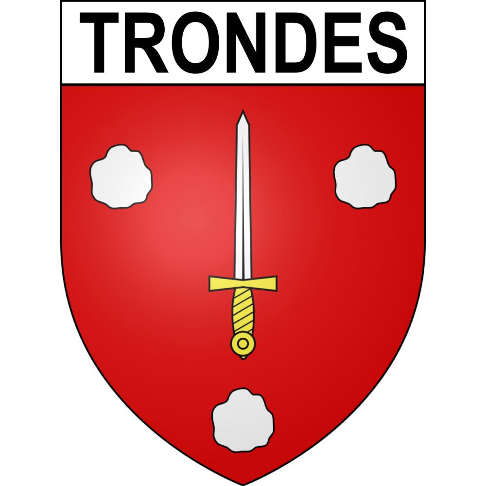 Stickers coat of arms Trondes adhesive sticker