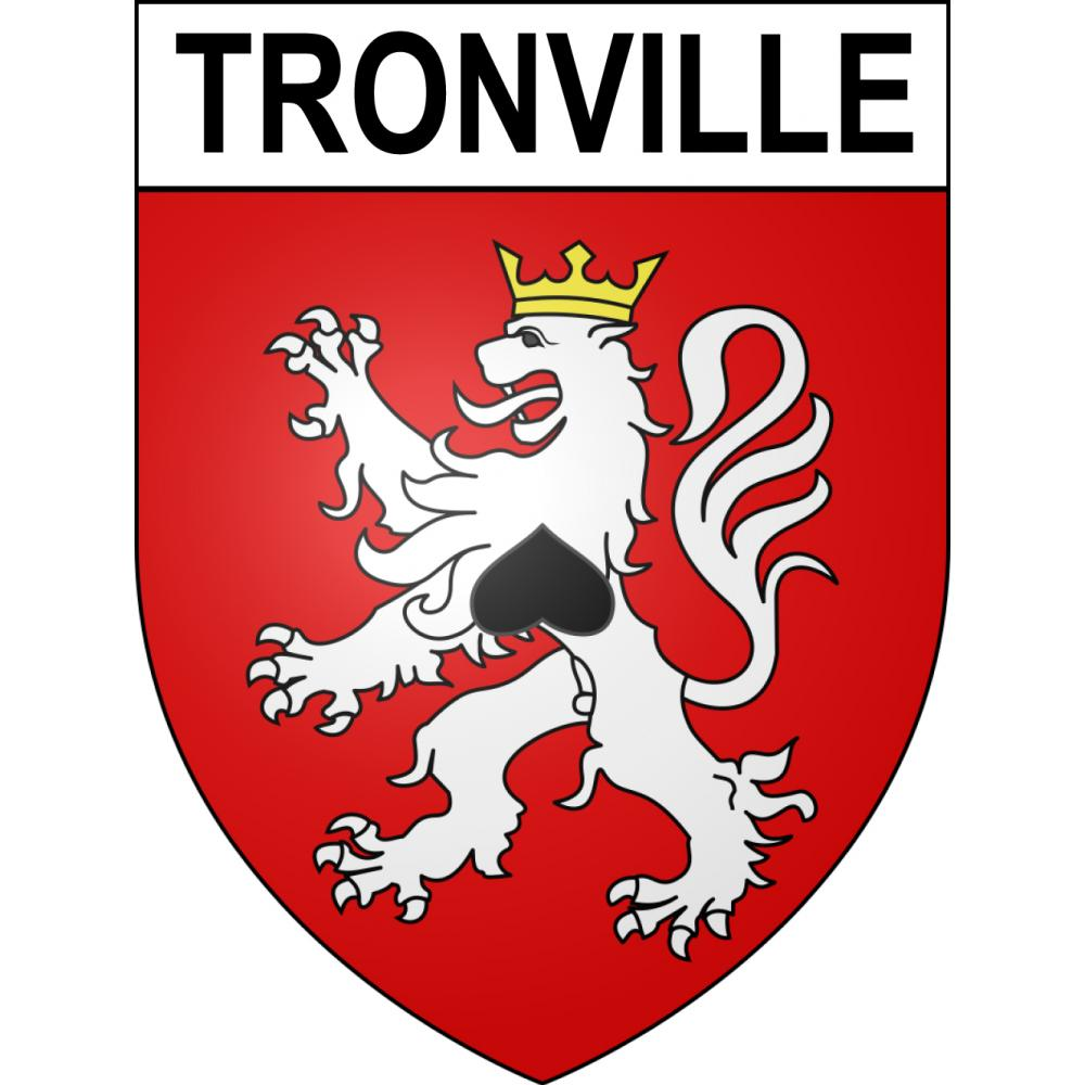 Stickers coat of arms Tronville adhesive sticker