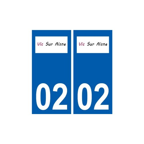 02 Vic-sur-Aisne logo ville autocollant plaque sticker