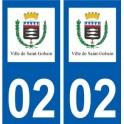 02 Saint-Gobain logo ville autocollant plaque sticker