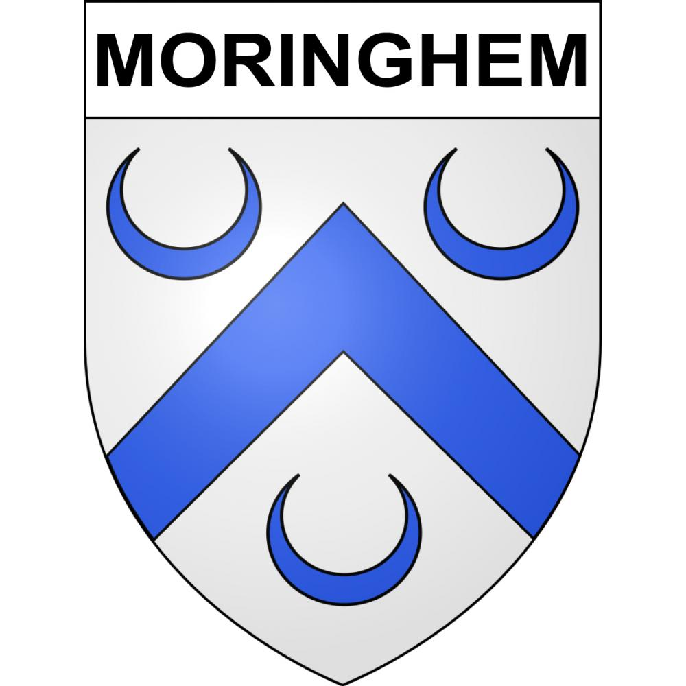 Stickers coat of arms Moringhem adhesive sticker