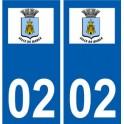 02 Marle logo ville autocollant plaque sticker