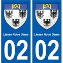02 Liesse-Notre-Dame city sticker, plate sticker