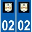 02 Montreuil-aux-Lions logo city sticker, plate sticker