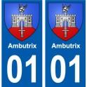 01 Ambutrix ville autocollant plaque sticker